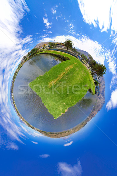 Little planet panorama of a lake Stock photo © pxhidalgo