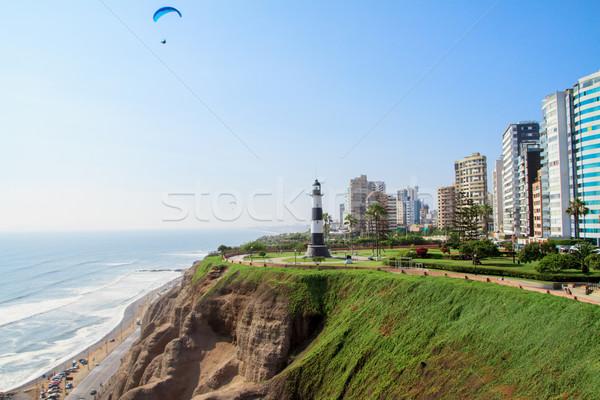 Kasaba manzara lima Peru şehir dünya Stok fotoğraf © pxhidalgo