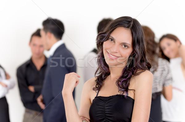 Portrait femme d'affaires équipe heureux affaires bureau Photo stock © pxhidalgo