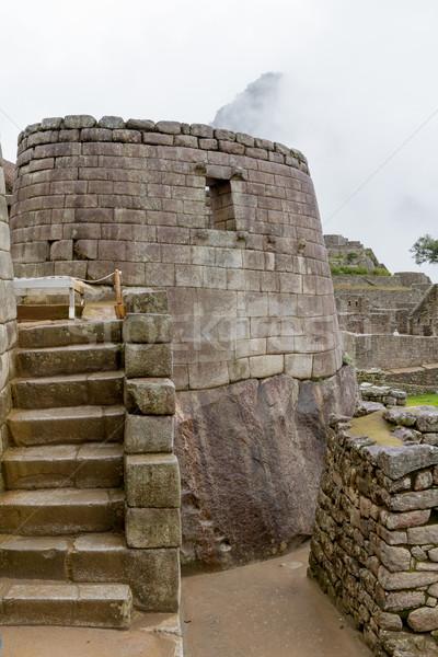 ören güneş tapınak Machu Picchu şehir duvar Stok fotoğraf © pxhidalgo