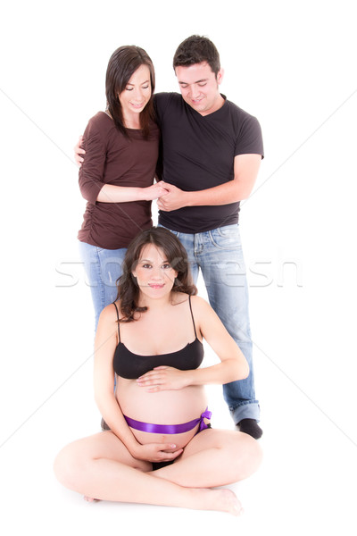 surrogate mother concept, pregnant woman and couple Stock photo © pxhidalgo