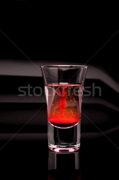 red shot glass on a dark background Stock photo © pxhidalgo