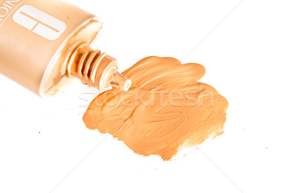 smudged liquid foundation isolated on white Stock photo © pxhidalgo