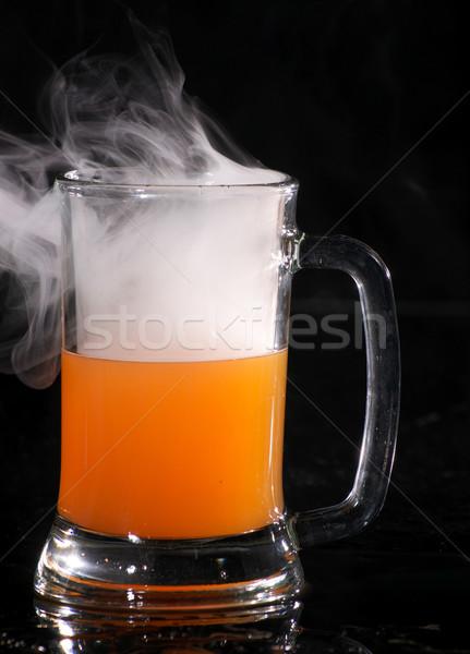 Coquetel fumar preto impressionante secar gelo Foto stock © pxhidalgo