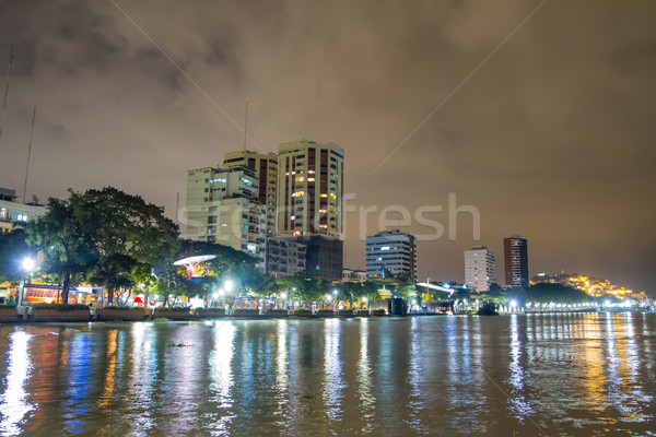 night scene on malecon 2000 guayaquil ecuador south america Stock photo © pxhidalgo