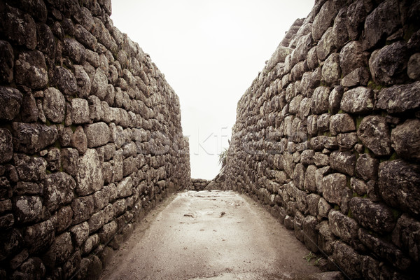Stockfoto: Oude · steen · steegje · Machu · Picchu · Peru · gebouw