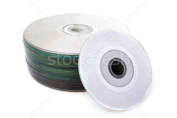 stack of Cd or DVD isolated on white background Stock photo © pxhidalgo