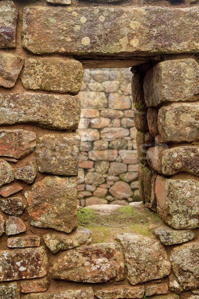 Detail of Inca Ruins at Machu Picchu Stock photo © pxhidalgo
