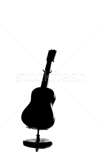 A silhouette of an acoustic guitar Stock photo © pxhidalgo