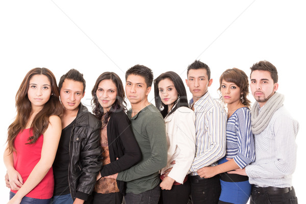 Multi Ethnic People Standing In A Row Stock photo © pxhidalgo