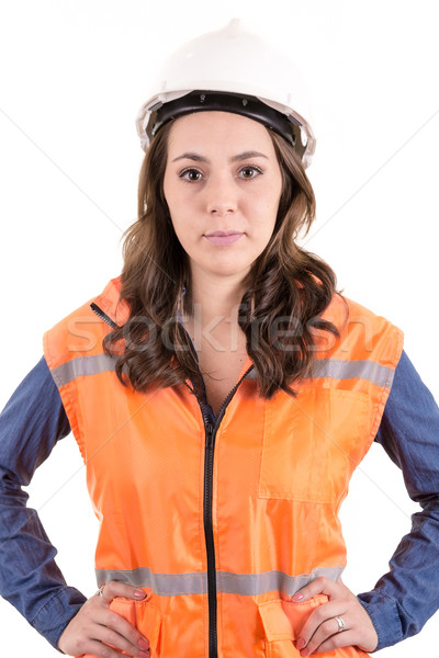 woman wearing protective equipment Stock photo © pxhidalgo