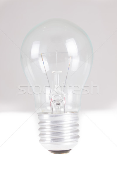 Clear light bulb with filament showing Stock photo © pxhidalgo