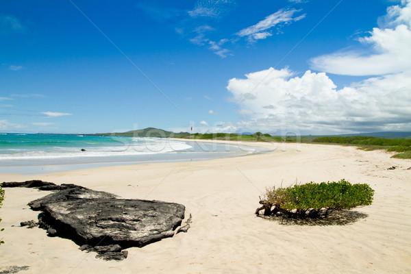 Strand eilanden Blauw hemel oceaan zand Stockfoto © pxhidalgo
