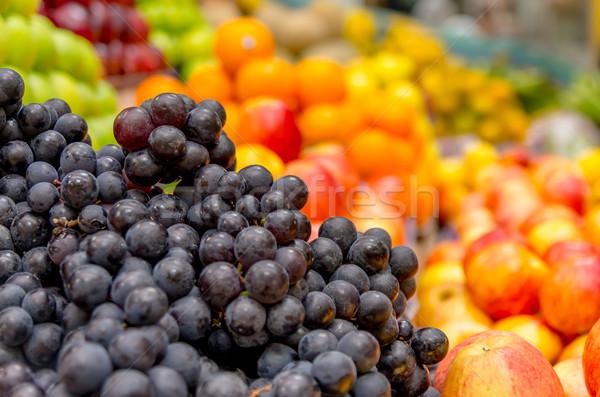 Red grapes at the local market in Quito, Ecuador Stock photo © pxhidalgo
