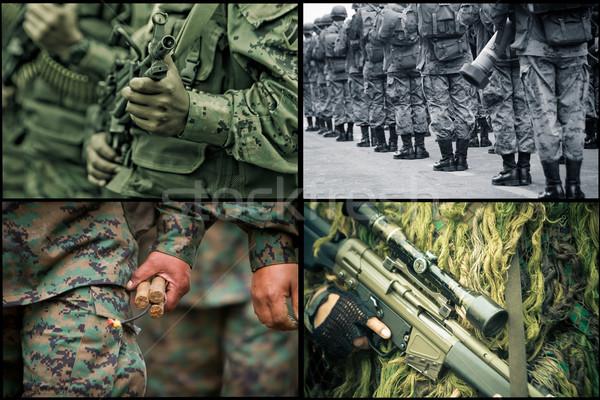 Zdjęcia stock: Armii · zestaw · kobiet · zielone · wojny · star