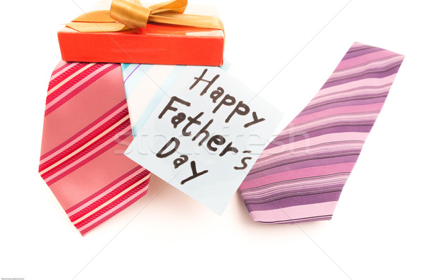 Happy Fathers Day tag with neckties Stock photo © pxhidalgo