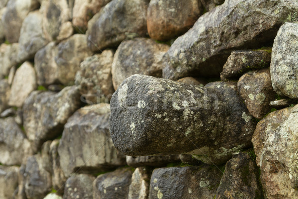 Inca wall in the ancient city of Machu Picchu Stock photo © pxhidalgo
