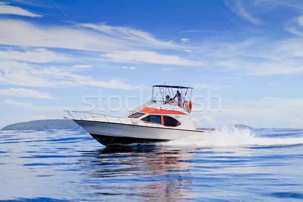 Lancha rota oceano água mar verão Foto stock © pxhidalgo