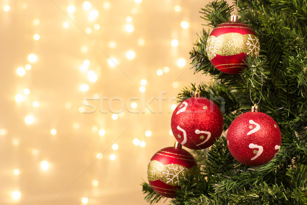 Closeup of Christmas-tree decorations Stock photo © pxhidalgo