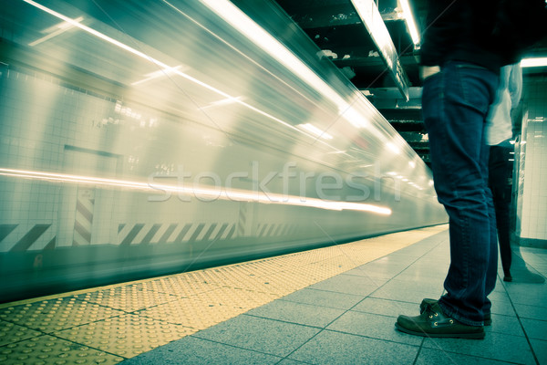 New York subway, long exposure, color processed Stock photo © pxhidalgo