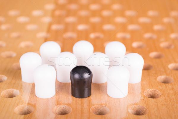 Kínai fa deszka játék fa sport idő Stock fotó © pxhidalgo