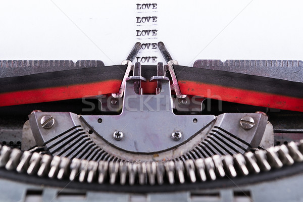 Concept about Love written on an old typewriter . Stock photo © pxhidalgo