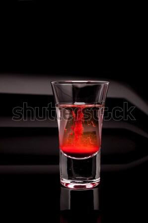 macro shot of glass and candle Stock photo © pxhidalgo