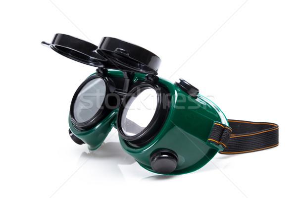 welded protective spectacles on white background isolated, close up Stock photo © pxhidalgo