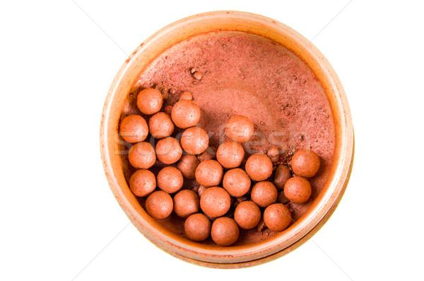 Balls of brown eyeshadow in box Stock photo © pxhidalgo