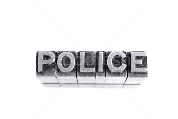 Police sign Stock photo © pxhidalgo