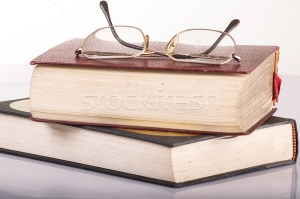 pile of books and glasses Stock photo © pxhidalgo