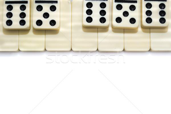 Piano domino effect geïsoleerd witte achtergrond Stockfoto © pxhidalgo