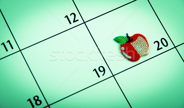 close up of a calendar marked date with sticker Stock photo © pxhidalgo