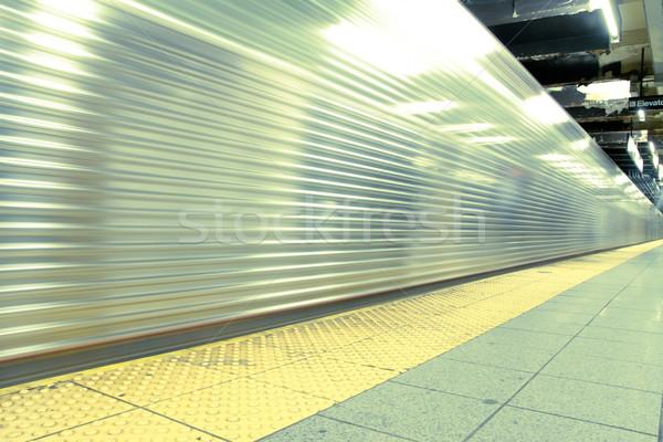Times Square metró állomás New York alma tél Stock fotó © pxhidalgo