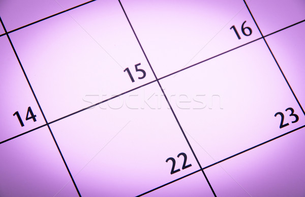 Close up a purple toned calendar page Stock photo © pxhidalgo