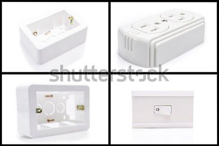 électriques pouvoir cordon socket maison mur Photo stock © pxhidalgo