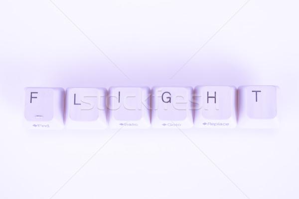 Stock fotó: Repülés · szó · írott · számítógép · gombok · üzlet