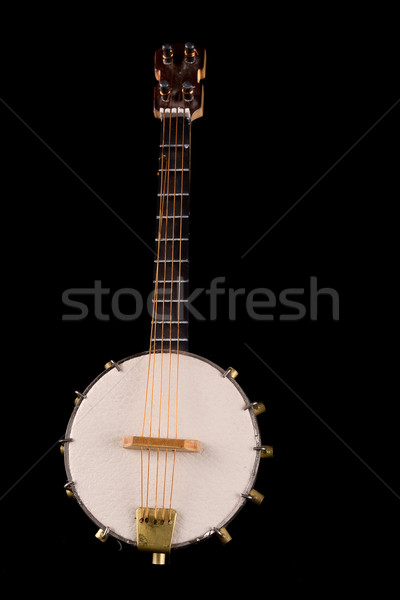 Vintage banjo Selective focus on strings. Stock photo © pxhidalgo