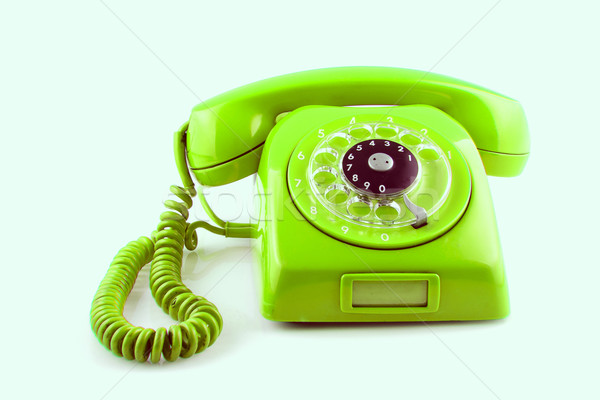 old Green telephone with rotary dial Stock photo © pxhidalgo