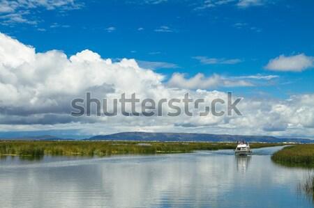 Landscape of a lake adn skyes Stock photo © pxhidalgo