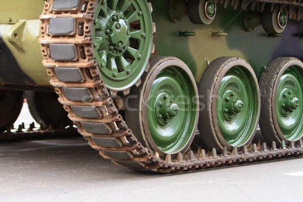 Caterpillars of a tank Stock photo © pxhidalgo