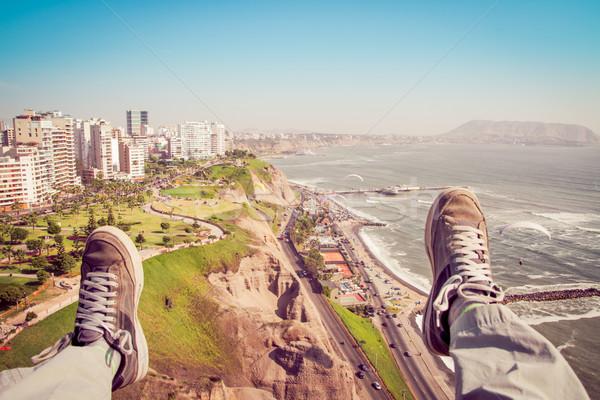 Ilk kişi perspektif renk spor Stok fotoğraf © pxhidalgo