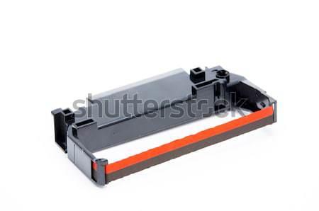 Wstążka nabój kropka matrycy drukarki biały Zdjęcia stock © pxhidalgo