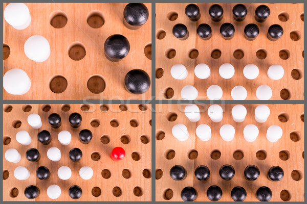 chinese checkers wooden board set Stock photo © pxhidalgo