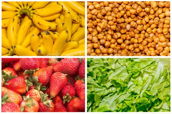 Foto stock: Colagem · frutas · frescas · legumes · comida · maçã · verão
