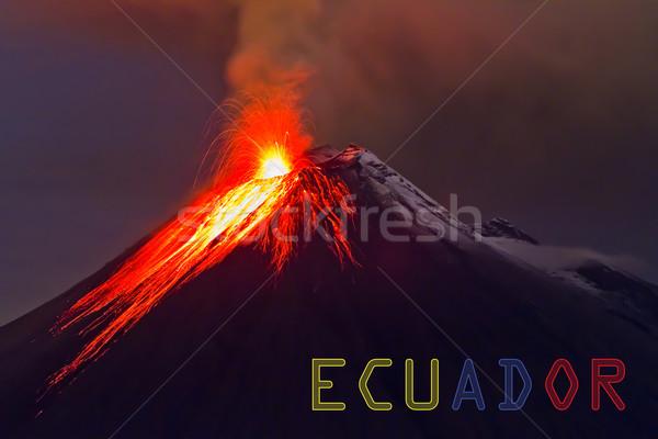 Stock fotó: Vulkán · szalag · Ecuador · természet · tájkép · hegy