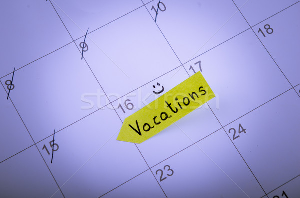 Vacation day is marked on a calendar Stock photo © pxhidalgo