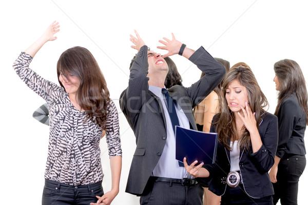 Zakenman zakenvrouw mislukking business computer vrouw Stockfoto © pxhidalgo
