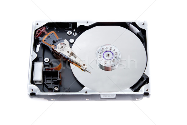 open hard drive unit on white background Stock photo © pxhidalgo