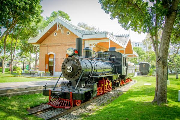 Lima, reducto Park with train Stock photo © pxhidalgo
